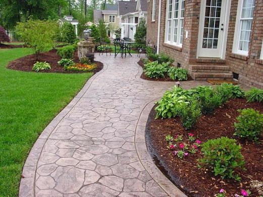 Hormig n impreso valencia pavimentos y precios m2 bajos for Garden maintenance work
