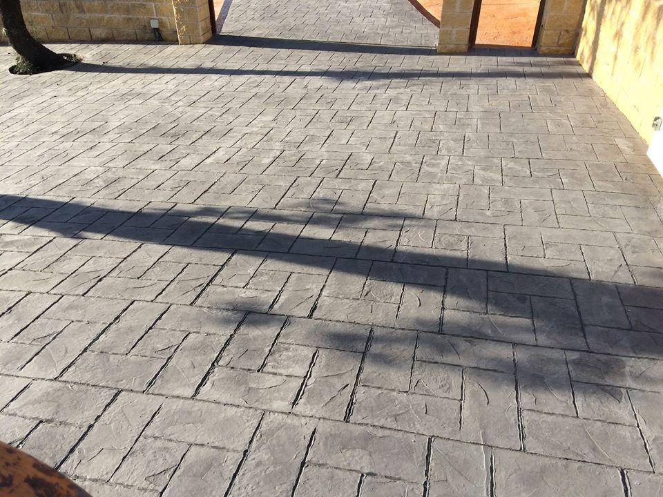 Hormig n impreso malaga pavimentos con hormigonimpresocris - Hormigon decorativo para suelos ...