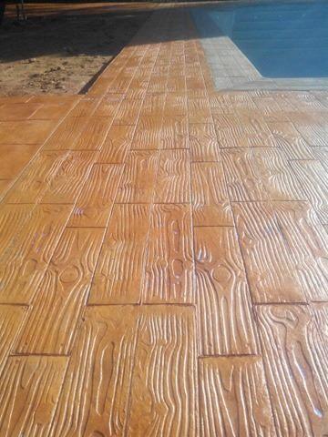 Obra de hormigon impreso en boadilla del monte madrid - Hormigon impreso madera ...